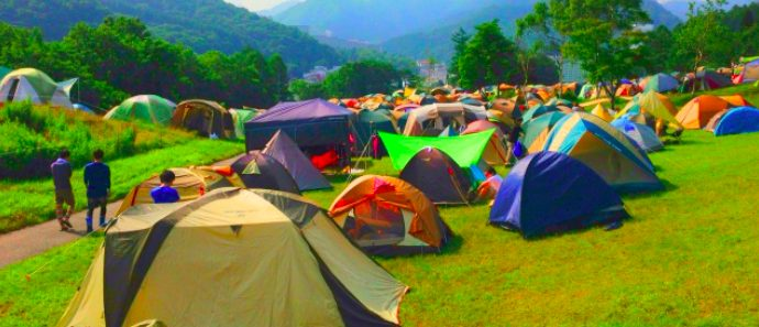 フジロックキャンプ